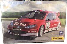 Heller Peugeot 206 WRC Ref 80752 Model Kit Escala 1:24, Nuevo