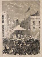 "RELIGION "" FETE-DIEU A MADRID "" DESSIN VALENTIN FOULQUIER GRAVURE ENGRAVING 1866"