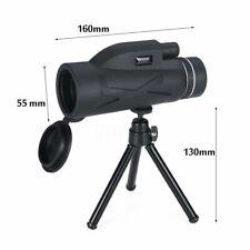 80x100 Zoom Waterproof BAK4 HD Lens Prism Monocular Telescope+Tripod+ Phone Clip