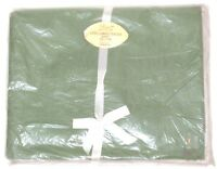 Vtg Sage Green Penney's Single Twin Flat Sheet Combed Percale Cotton 72x108 NOS