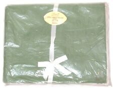Vtg Sage Green Penney's Pencale Single Twin Flat Sheet Combed Percale 72x108 NOS