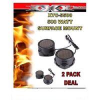 4 X Super High Frequency 500 Watt XTC-5500 Car Audio Tweeters XTC5500 2-PAIRS
