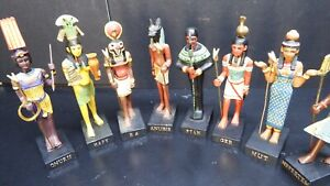 dolls house accessories 8x resin Egyptian gods museum/house/shop 1.12th