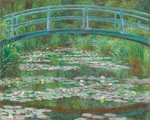 The Japanese Footbridge 1899 by Claude Monet 75cm x 60.4cm Canvas Print