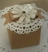 Wedding Ivory,rustic,Pink,Lilac vintage favor boxes with flower-pk- 20,50,100