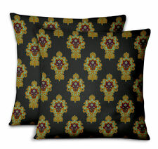 S4Sassy Floral Decorative Cushion Cover Cases for Sofa Bed 2Pcs-DK-507I