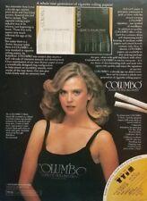 1978 Columbo Cigarette Rolling Paper Cute Girl Retro Marijuana Vintage Print Ad