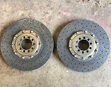 Pair Ferrari 458 Carbon Ceramic Rear Brake Discs & Brembo Bell Housing XB5AB11