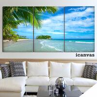 Earth Beach Seascape 3 piece HD Modern Poster Wall Home Decor Canvas Print