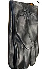 Leather Gloves Mens Black L/XL