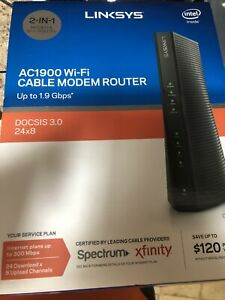 Linksys - CG7500 AC1900 Wi-Fi Cable Modem Router DOCSIS 3.0, 24x8-Open Box