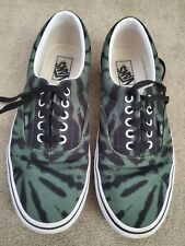 Men's VANS Era Tie Dye Garden Green Black Canvas * Size 9.5 * Pre Owned