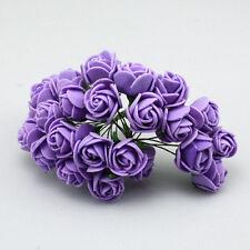 24-144pcs Mini Foam Artificial Rose Flowers with Handmade Wedding Home Decor