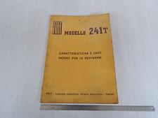 MANUALE ORIGINALE 1968 CARATTERISTICHE TECNICHE FIAT 241T 241 T