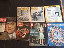 Lot de magazines anciens Goulet Turpin Les Gens Point de Vue Paris Match