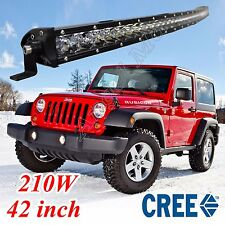 """Single ROW 210W 42"""" Inch Curved LED Work Light Bar Flood Spot Driving Ford F-150"""