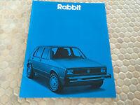 VW RABBIT HATCHBACK CONVERTIBLE SALES BROCHURE 1980 USA EDITION