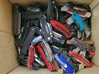 6 Folding knives grab bag Gerber Buck MTECH Coast Victorinox TSA confiscated