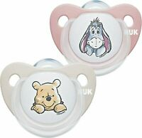 🔥NUK Trendline Baby Dummy | 6-18 Months | BPA-Free Silicone Soothers |2 Count