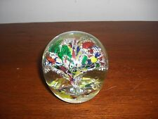 Lovely Glass Murano Paperweight Colorful Modern