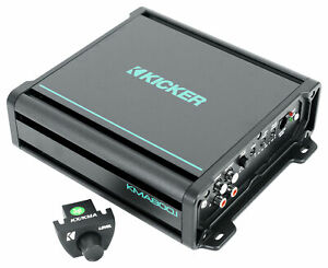 KICKER 48KMA8001 800 Watt 1-Ohm Marine/Boat Mono Amplifier Sub Amp KMA800.1