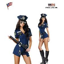 Women Sexy Police Officer Cop Cosplay Halloween Complete Outfit Adult Costume