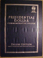 "Presidential Dollar Commemorative ""Deluxe"" Folder 80 openings Holds P & D Mints"