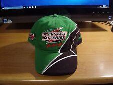 Bobby Labonte #18 Interstate Batteries NASCAR Adjustable Blk/Green Hat Joe Gibbs