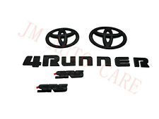 Overlay ! New 2014-2020 Toyota 4Runner SR5 MAatte Black Out Emblem Kit 5 Pcs