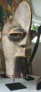 Early example of a male Kifwebe mask, Songye people, Congo basin, early 20th. C.