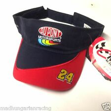 "NASCAR JEFF GORDON DUPONT RACING VISOR ""LOT OF 3""  HAT CAP NWT WINSTON CUP"