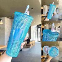 China Starbucks 2021 24oz Tumbler Cup Blue Siren-logo Diamond Studded Cup Home