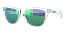 Oakley Frogskins Sunglasses OO9245-38 Clear Crystal W/ Jade Iridium Lens NIB