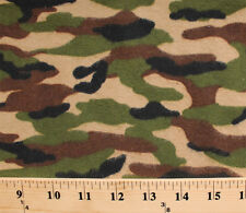 Flannel Camo Camouflage Army Green Cotton Flannel Fabric Print D283.06