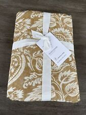Pottery Barn Alessandra Organic Percale Duvet /Full -Queen GOLD NWT