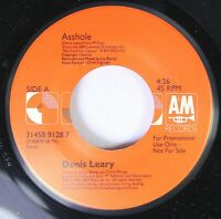 Pop Unplayed 45 Denis Leary - Asshole / Traditional Irish Folk Song On A & M Rec