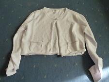 So 17 fin (E) PAGLIE Veste tricotée Boléro, blanc g6-s17-14 taille gr.140-164