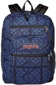 JanSport Big Student Blue Indigo Adire Backpack Bag NEW NWT