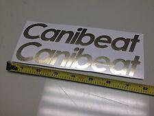 x2 Canibeat CHROME Gold Sticker Decal car window jdm illest vip stance dope
