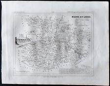 1833 - Maine et Loire - Carte ancienne du département - Gravure Monin & Ales