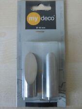 2 x my deco Endstück cut 16 mm Edelstahloptik Gardinenstange MD 60500