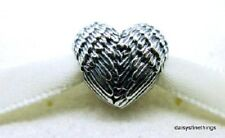 NWT  AUTHENTIC PANDORA CHARM  ANGELIC FEATHERS HEART #791751    RETIRED