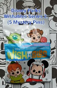 Genuine DISNEY Parks WISHABLES Series 2, 5 TRADING PINS Mystery Pack Unopened