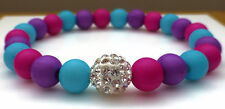 Colourful Festival Friendship Bracelet Pave Crystal Disco Bi Gay Pride LGBT