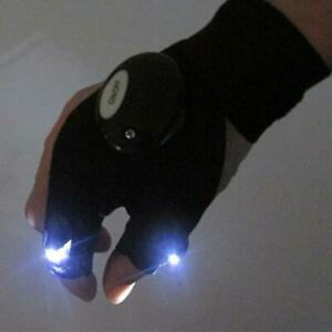 Night Light Waterproof Fishing Gloves with LED Flashlight Rescue Tools  L0Z0