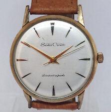 Rare Vintage Men's SEIKO CROWN Mechanical Watch. 35mm Silver Dial.