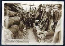 PHOTO ORIGINALE 14-18:TRANCHEE DE 1ère LIGNE FRANCAISE 1918+TOP+