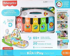 Fisher-Price Deluxe Kick 'n Play Piano Gym for Infants/Toddlers 0-36 Months NEW