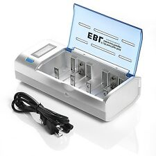 EBL Universal Battery Charger for AA AAA C D 9V Ni-MH Ni-CD Rechargeable Batt...