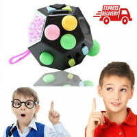 12-Sided Fidget Cube Spinner Desk Toy Children Anxiety Adult Stress Relief Cubes